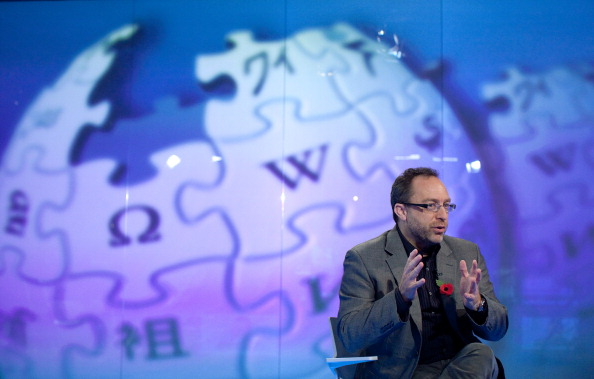 Jimmy Wales, a Wikipédia társalapítója. Fotó: Simon Dawson/Bloomberg via Getty Images
